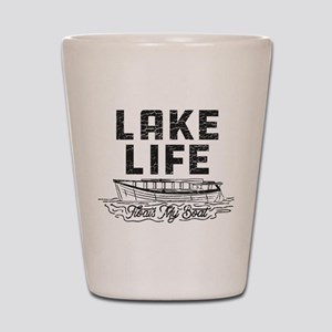 Lake Life Floats My Boat Shot Glass