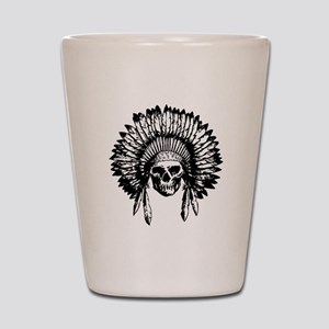 Native American Skull Shot Glass