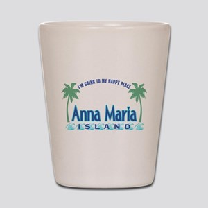 Anna Maria Island-Happy Place Shot Glass