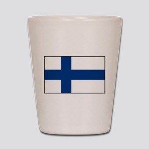 Finland - National Flag - Current Shot Glass