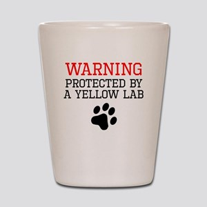 Protected By A Yellow Lab Shot Glass