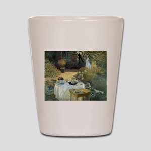 The Luncheon by Claude Monet Shot Glass