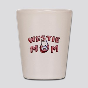 Westie Mom (Red) Shot Glass