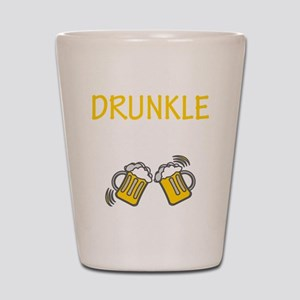 Drunkle Drunk Beer Party Cheers Bottoms Shot Glass