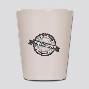 Certified Transgender Stamp Shot Glass