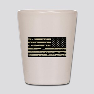 Weathered Reverse U.S. Flag (Sand) Shot Glass