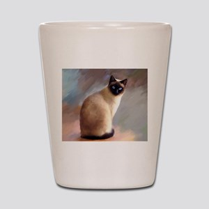 Cat 613 siamese Shot Glass
