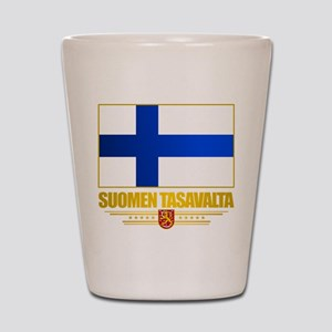 Flag of Finland Shot Glass