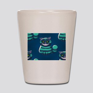 blue Cheshire Cat Shot Glass