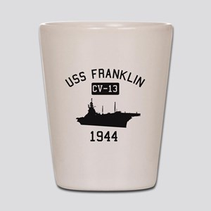 USS Franklin 1 Shot Glass