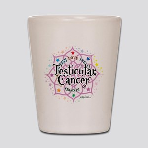 Testicular Cancer Lotus Shot Glass