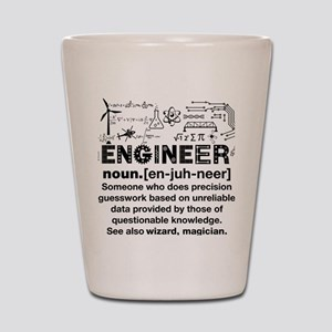 Funny Engineer Definition Shot Glass
