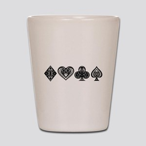 Card Symbols Shot Glass