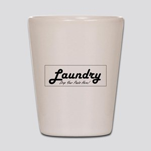 laundry room decor Shot Glass