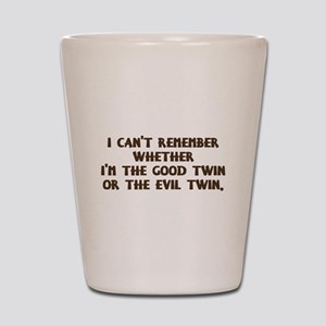 Good Twin or Evil Twin? Shot Glass