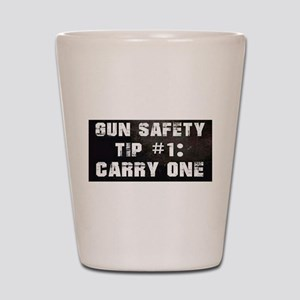 GUN SAFETY TIP Shot Glass