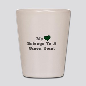 My Heart Belongs To A Green Beret Shot Glass