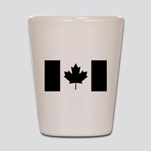 Canada: Black Military Flag II Shot Glass