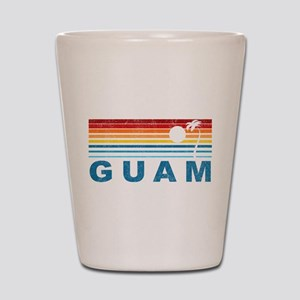 Retro Palm Tree Guam Shot Glass