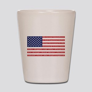 2nd Amendment Flag Shot Glass