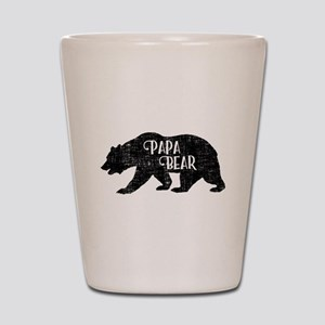 Papa Bear - Family Shirts Shot Glass