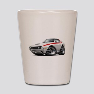 1970 AMX White-Red Car Shot Glass