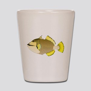 Titan triggerfish Shot Glass