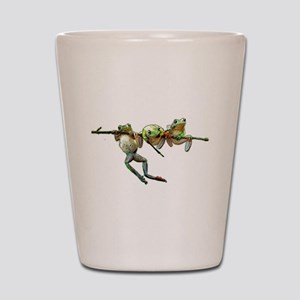 Hang in There Froggies Shot Glass