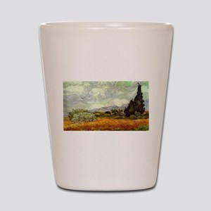 Vincent van Gogh's Wheat Field with Cyp Shot Glass