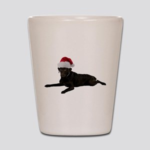 Black Lab Santa Shot Glass