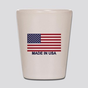 MADE IN USA (w/flag) Shot Glass
