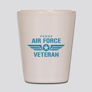 Proud Air Force Veteran W Shot Glass