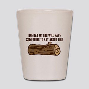 Twin Peaks Log Something To Say Shot Glass