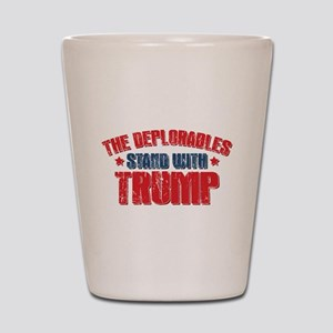 Deplorables Stand With Trump Shot Glass