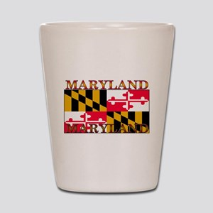Maryland State Flag Shot Glass