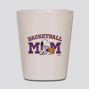 Snoopy Basketball Mom Shot Glass