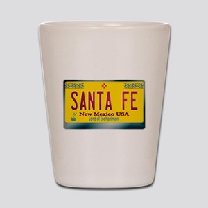 """SANTA FE"" New Mexico License Plate Shot Glass"