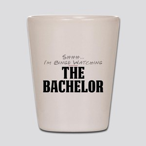 Shhh... I'm Binge Watching The Bachelor Shot Glass