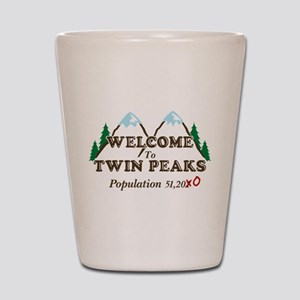 Welcome To Twin Peaks Population Shot Glass