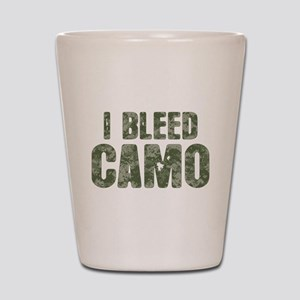 I Bleed Camo (digi) Shot Glass