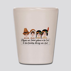Pilgrim Poem Shot Glass