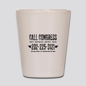 Call Congress Shot Glass
