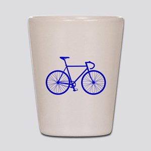 Road Bike - Blue Shot Glass