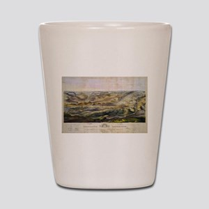 Vintage Map of The Gettysburg Battlefie Shot Glass