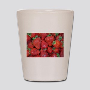Fresh red strawberries Shot Glass