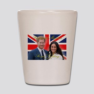 HRH Prince Harry and Meghan Markle Shot Glass