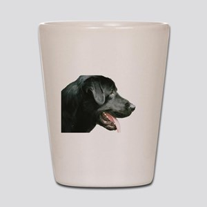 Black Lab Head Shot Glass