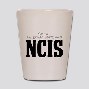 Shhh... I'm Binge Watching NCIS Shot Glass