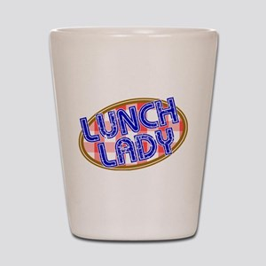 Lunch Lady Design Shot Glass