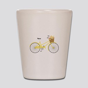 Bicycle Flowers Shot Glass